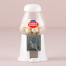 MINI CLASSIC WHITE GUMBALL DISPENSER - AyaZay Wedding Shoppe