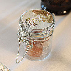 PERSONALIZED MINI GLASS BOTTLE WITH WIRE SNAP (12/pkg) - AyaZay Wedding Shoppe