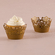 CLASSIC DAMASK FILIGREE PAPER CUPCAKE WRAPPER (12/pkg) - AyaZay Wedding Shoppe