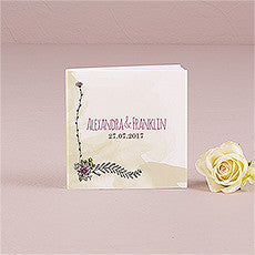 NATURAL CHARM PERSONALIZED BOOK STYLE NOTEBOOK (12/pkg) - AyaZay Wedding Shoppe