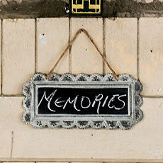 LARGE SCALLOPED FRAME TIN SIGNS WITH CHALKBOARD - AyaZay Wedding Shoppe