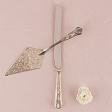 VINTAGE INSPIRED SILVER CAKE SERVING SET - AyaZay Wedding Shoppe