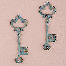 VINTAGE INSPIRED KEY HOOK WITH DISTRESSED FINISH (2/pkg) - AyaZay Wedding Shoppe