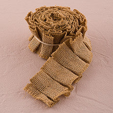 RUFFLED JUTE RIBBON TRIM - AyaZay Wedding Shoppe
