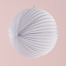 WATERMELON ROUND PAPER LANTERN IN WHITE - AyaZay Wedding Shoppe