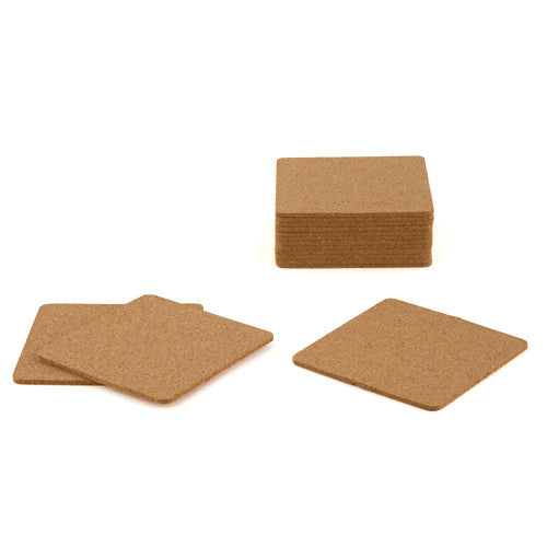 SQUARE CORK COASTERS (25/pkg) - AyaZay Wedding Shoppe