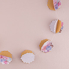 3D FLORAL PRINT PAPER GARLAND - AyaZay Wedding Shoppe