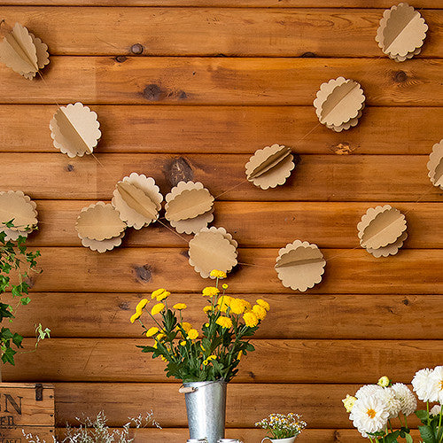 3D FLORAL KRAFT PAPER GARLAND - AyaZay Wedding Shoppe