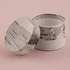 BIRCH CIRCULAR FAVOUR BOX (6/pkg) - AyaZay Wedding Shoppe
