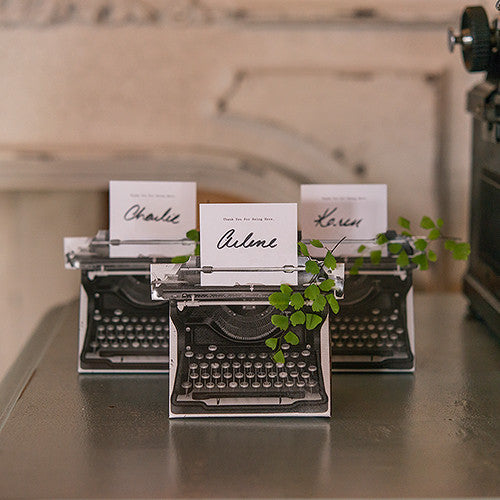 VINTAGE INSPIRED TYPEWRITER FAVOUR BOX KIT (10/PKG) - AyaZay Wedding Shoppe
