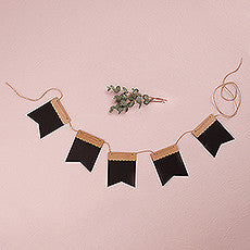 DECORATIVE KRAFT AND BLACK PAPER DIY BANNER - AyaZay Wedding Shoppe