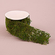 ROLL OF FAUX MOSS RIBBON - AyaZay Wedding Shoppe