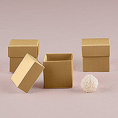 LUSTROUS GOLD FAVOR BOX WITH LID (10/pkg) - AyaZay Wedding Shoppe