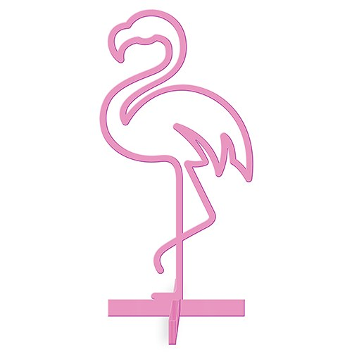 ACRYLIC FLAMINGO - TABLETOP DECORATION IN PINK - AyaZay Wedding Shoppe