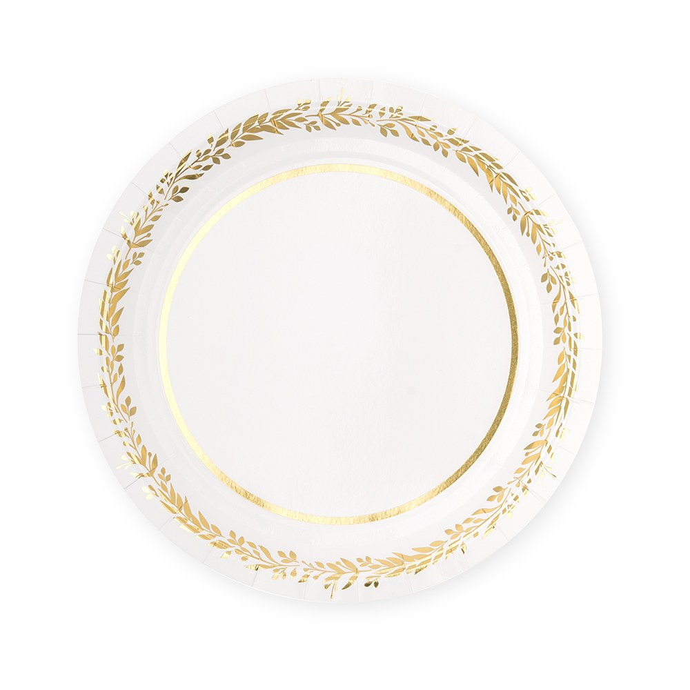 DISPOSABLE PAPER TABLEWARE SET - LOVE WREATH (SERVES 24)