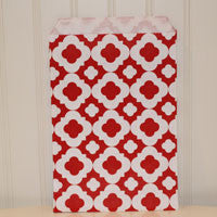 Mod Print Red Treat Bags (24/pkg) - AyaZay Wedding Shoppe