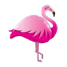 MYLAR FOIL HELIUM PARTY BALLOON DECORATION - GIANT PINK FLAMINGO