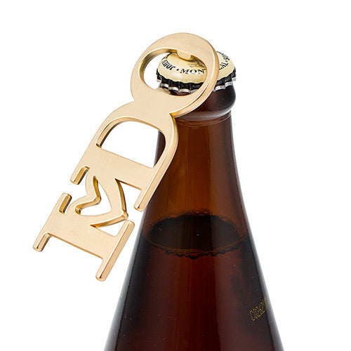 "GOLD ""I DO"" BOTTLE OPENER FAVOUR - AyaZay Wedding Shoppe"