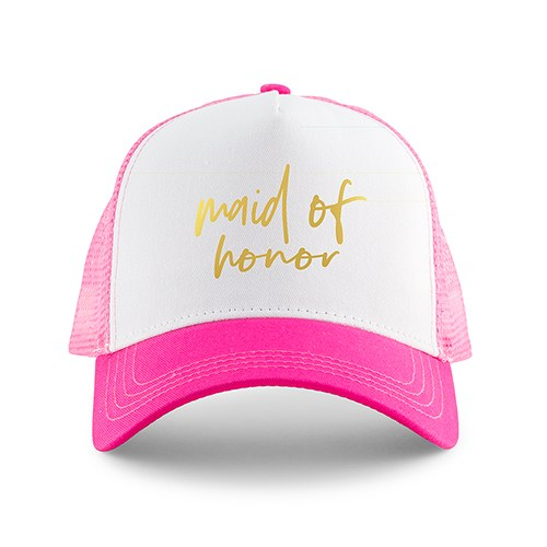 WEDDING PARTY SNAPBACK TRUCKER HATS - MAID OF HONOR - AyaZay Wedding Shoppe