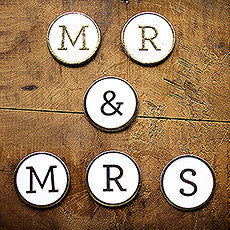 """MR. & MRS. CARDBOARD LETTER MEDALLIONS - AyaZay Wedding Shoppe"