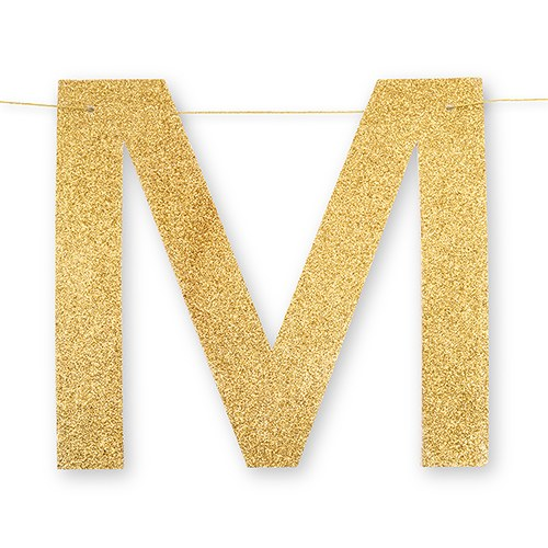 MR. & MRS. GOLD GLITTER WEDDING BANNER - AyaZay Wedding Shoppe