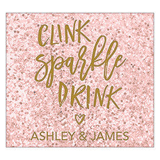 SPARKLE RECTANGULAR LABEL (12/pkg) - AyaZay Wedding Shoppe
