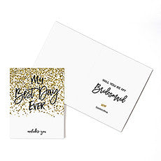 SPARKLE THANK YOU CARD WITH FOLD - AyaZay Wedding Shoppe