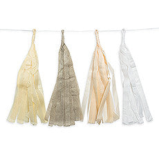 TISSUE PAPER TASSEL GARLAND - PASTEL ASSORTMENT - AyaZay Wedding Shoppe