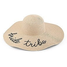 WOMEN'S FLOPPY WIDE BRIM STRAW BEACH/SUN HAT - BRIDE TRIBE