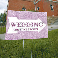 Pointing Arrow Wedding Directional Sign - AyaZay Wedding Shoppe