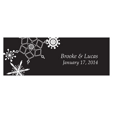 WINTER FINERY SMALL RECTANGULAR TAG - AyaZay Wedding Shoppe