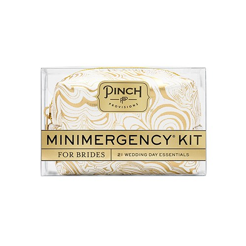 BRIDE MINIMERGENCY KIT - WHITE/GOLD SWIRL - AyaZay Wedding Shoppe