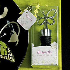 BUTTERFLY WINE STOPPER IN GIFT PACKAGING - AyaZay Wedding Shoppe