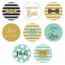 CELEBRATION SMALL ROUND STICKER ASSORTMENT SET (40/pkg) - AyaZay Wedding Shoppe