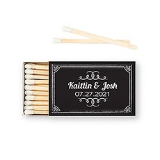 CUSTOM MATCHBOX WEDDING FAVOUR - CHALKBOARD