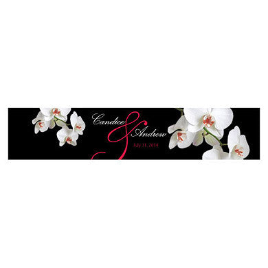 CLASSIC ORCHID WATER BOTTLE LABEL - AyaZay Wedding Shoppe