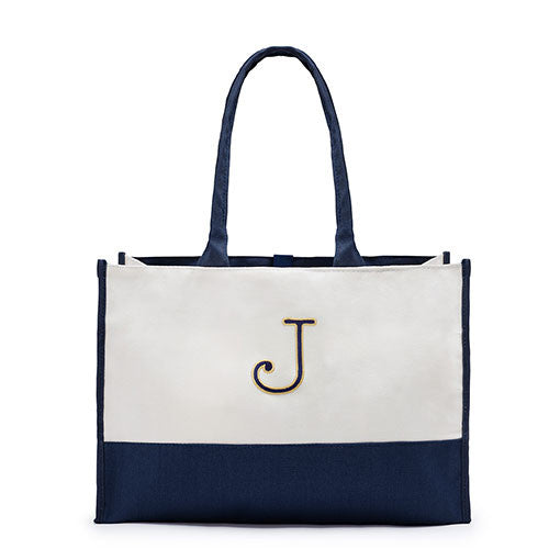 COLORBLOCK TOTE - NAVY - AyaZay Wedding Shoppe