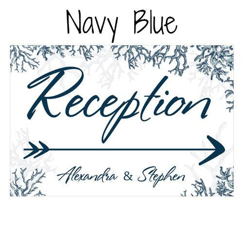 REEF CORAL DIRECTIONAL SIGN - AyaZay Wedding Shoppe