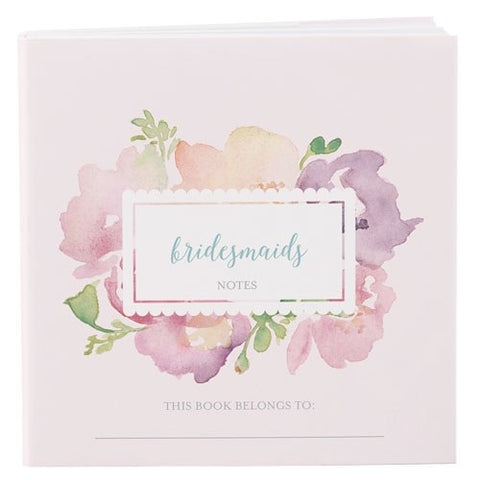 NOTEPAD FAVOUR WITH PERSONALIZED GARDEN PARTY COVER - BRIDAL PARTY ASSORTMENT (12/pkg)