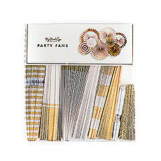 GOLD FOIL PAPER FAN PARTY DECORATIONS (pkg of 8) - AyaZay Wedding Shoppe