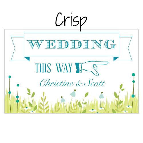 HOMESPUN CHARM WEDDING DIRECTIONAL SIGN - AyaZay Wedding Shoppe