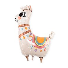 MYLAR FOIL PARTY BALLOON DECORATION - LLAMA