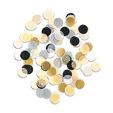 MIXED METALLICS JUMBO PARTY TISSUE CONFETTI - GOLD, SILVER, BLACK - AyaZay Wedding Shoppe