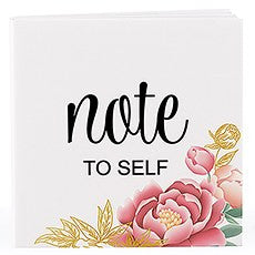 NOTEPAD FAVOUR WITH PERSONALIZED MODERN FLORAL COVER