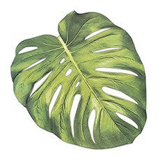TROPICAL MONSTERA LEAF DIE-CUT PAPER PLACEMAT SHEETS - AyaZay Wedding Shoppe