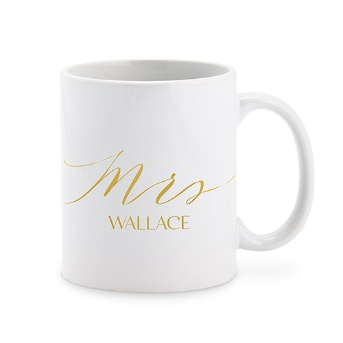 PERSONALIZED COFFEE MUG - MRS - AyaZay Wedding Shoppe