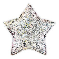MYLAR FOIL HELIUM PARTY BALLOON DECORATION - METALLIC SILVER STAR - AyaZay Wedding Shoppe