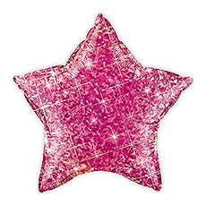 MYLAR FOIL HELIUM PARTY BALLOON DECORATION - METALLIC MAGENTA PINK STAR
