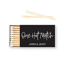 CUSTOM MATCHBOX WEDDING FAVOUR - ONE HOT MATCH
