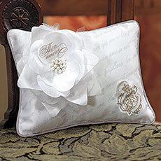 PARISIAN LOVE LETTER BLOSSOM RING PILLOW - AyaZay Wedding Shoppe